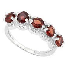 Damen Ring Viola, 925er Silber, 1,8 Kt. echter Granat/Diamant