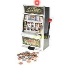"15"" Jumbo Slot Machine Lucky Sevens Casino Coin Bank Winning Light & Sound New"