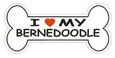Love My Bernedoodle Bumper Sticker or Helmet Sticker D2578 Dog Bone Decal