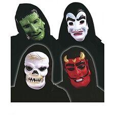 Horrormaske Maske mit schwarzen Tuch Karneval Helloween verschiedene Modelle