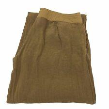 I BLUES CLUB pantalone donna biscotto 100% lino