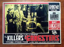 I GANGSTER fotobusta poster Lancaster Gardner Siodmak Noir The Killers 1946
