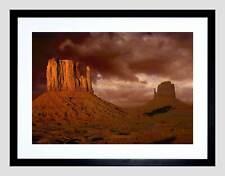 Valle Monumento de Arizona Gran Cañón EE. UU. impresión de arte enmarcado Negro Foto B12X9632