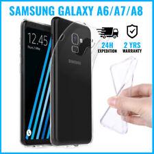 Transparent TPU Gel Case Flexible Coque Silicone Samsung Galaxy A6 A7 A8 2018