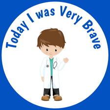 I WAS VERY BRAVE GLOSS STICKERS  CHILDREN'S DOCTORS NURSES PARAMEDICS HOSPITALS