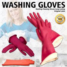 DISH WASHING GLOVES ORIGINAL LATEX KITCHEN CLEANING LONG LASTING DETERGENT SAFE