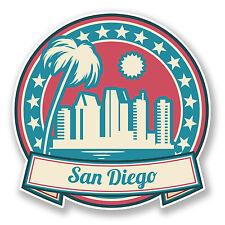 2 x 10cm San Diego USA America Sticker Car Laptop Travel Luggage Flag Tag #6745