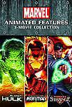 MARVEL Animated 3 DVD Movie Set Planet Hulk/Dr. Strange/Invincible Iron Man