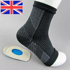 Plantar Fasciitis Foot Compression Sleeve Sock Pair Gel Heel Pad Support Cushion