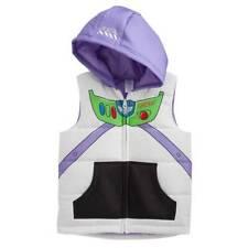 NWT-Boys Disney Toy Story Buzz Lightyear White Multi Hooded Puffer Vest- 7 & 7X