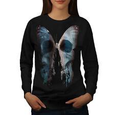Butterfly Skull Face Women Sweatshirt NEW | Wellcoda