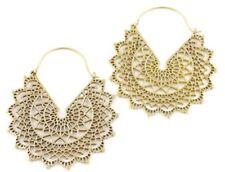 Large Mandala Brass Earrings, Silver Mandalas, Tribal Earrings, Festival Earring