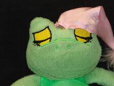 COOL STRESS BALL HABITAT ZZZ SLEEPING Frog PLUSH STUFFED ANIMAL TOY GIRL