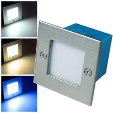 Led Einbau-Leuchte Edelstahl 230V 1,5W IP54 Einbauspot Stufenlicht Stufenleuchte