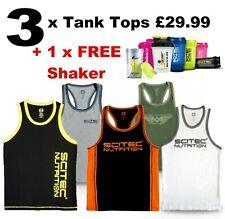 Scitec Nutrition Tank Top Vest Mans Gym Mixed Bundle Clearance Sale Free Shaker