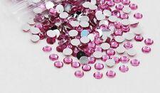 Flat back Acrylic Rhinestones Glitter Gems Jewelry Beads-Light Rose-3 MM-5000 PC
