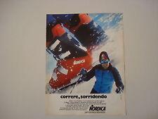advertising Pubblicità 1976 SCARPONI DA SCI NORDICA
