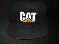 Black cordoroy Cat ball cap with cord.