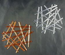 Koziol Glasuntersetzer STIXX 4er Set (Farbe: Weiß klar, Orange klar).