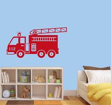 Wandtattoo Aufkleber Feuerwehr Kind Auto Kinderzimmer ki092