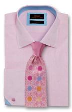 Dress Shirt Steven Land Spread collar Angled French Cuff- Pink -TA1717-PK