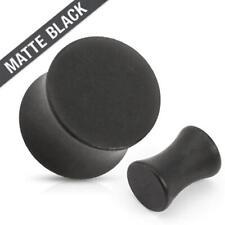 Plug negro mate de acero quirúrgico 316l Saddle Plug piercing oreja bollos túnel