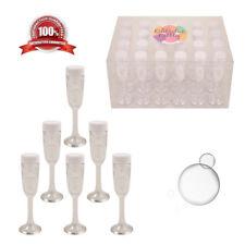 Wedding Bubbles Mini Champagne Glasses Party Bag Gift Favours Table Decoration