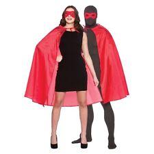 Vestido de fiesta red Adulto Superhéroe Capa Y Máscara De Disfraz Elaborado súper héroe Accesorios