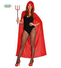 GUIRCA Mantello rosso diavolo diavolessa carnevale halloween adulto mod. 18634