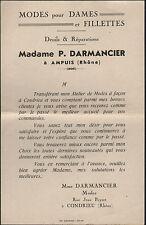 """AMPUIS & CONDRIEU (69) CONFECTION / MODE """"Mme P. DARMANCIER"""""""