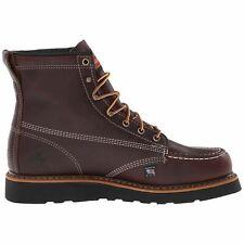 Thorogood 6 Inch Moc Toe 814-4266 Black Walnut Mens Leather Wedge Work Boots