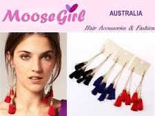 Dangling Tassel Earrings 3 Layers Tassel Ear Drops Woman Party Dress Up Earring