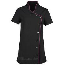 Black and Pink SPA Beauty Salon Tunic Uniform Nail Hairdresser Medical Health