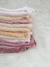 Hand dyed Gauze Sheer Cotton Cheesecloth Muslin Baby Wrap Newborn Photo Prop