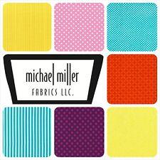 MICHAEL MILLER COORDONNÉ TISSU COTON FAT QUARTERS (46 X 54 CM) LOISIRS CRÉATIFS