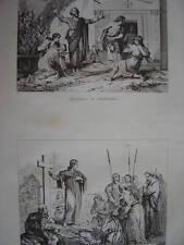 Gravure Injuriosus et Scholastique Prédication évangile