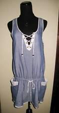 $190 NWT 4 6 s m SEVENTY TWO changes DRESS STRIPED blue mini cotton tunic