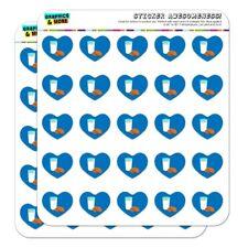 Glass Of Milk and Cookies Heart Shaped Planner Calendar Scrapbook Craft Stickers