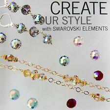 Genuine Swarovski® Crystal #5040 Briolette Beads 8mm - Choose AB Color- 2 PC PK.