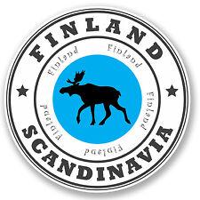 2 x Finland Scandinavia Vinyl Sticker iPad Laptop Travel Luggage Tag Gift #4525