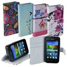 Design Book Style Case Tasche Etui Schutz Hülle für Huawei Y3 / Y360 -Farbwahl-
