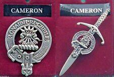 Cameron Scottish Clan Crest Pewter Badge or Kilt Pin