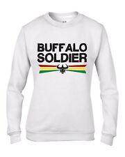 Buffalo Soldier Reggae Women's Sweatshirt Jumper - Rasta Bob Marley
