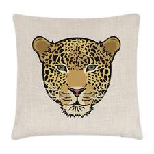 Leopard faccia Biancheria Cuscino Pillow-ANIMALE BUFFO