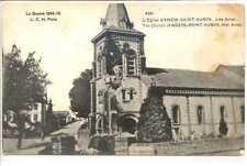 CP 62 PAS-DE-CALAIS EGLISE D'ANZIN-SAINT-AUBIN PRES D'ARRAS - GUERRE 1914-15