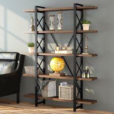 Adjustable 3-5Shelf Wood Bookcase Storage Shelving Book Wide Bookshelf Furniture