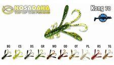 4 leurres souples craw écrevisses  Kong 70 KOSADAKA 70mm pêche bass perche pike