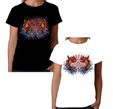 Velocitee Ladies T-Shirt Japanese Koi Carp Fish Pop Art Hardy Jerry  W13413