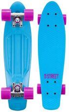 D-STREET Mini Cruiser Retro Old School Skateboard board plastik MINIBOARD NEU !