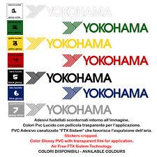 Adesivi prespaziato Vinile Yokohama Sticker Sponsor 4 Pz. cm. 10-15